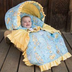 Baby Bella Maya Birdy 'n Bloom Car Seat Cover & Blanket Set-Designer