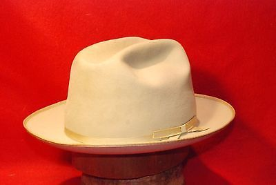 Fedora-60-039-s-Stetson-3X-Beaver-Vintage-Hat-Open-Road-Eddie-Bauer-size-7-1 -4 237e23be0082
