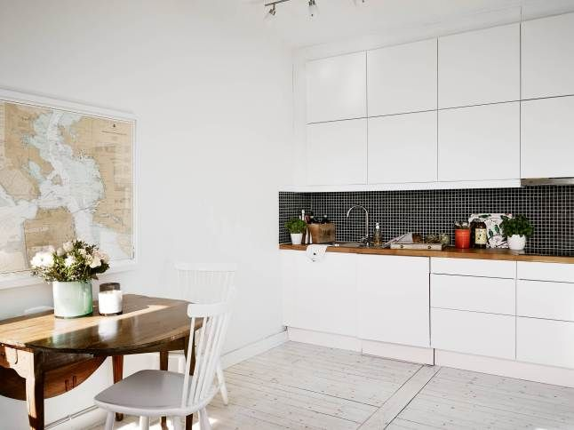 Minimalistyczna Biala Kuchnia Szukaj W Google Interior Home Apartment Inspiration