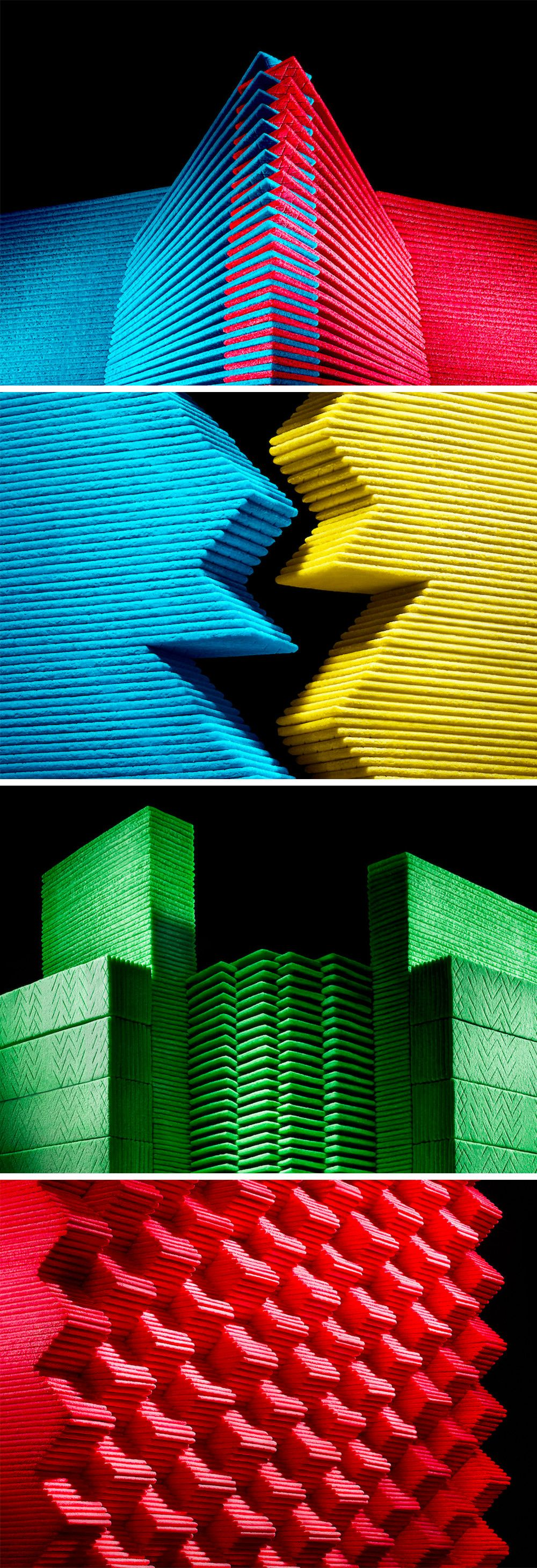 Futurist Architecture Formed From Neatly Stacked Chewing Gum by ...
