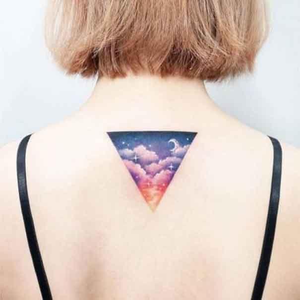 Mystique Triangle Tatouages Mystique Tatouages Triangle Tatouage De Paysage Tatouage Tatouage Triangle