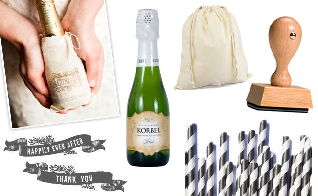 $4 Champagne Favor for the Formal Wedding | TheKnot.com