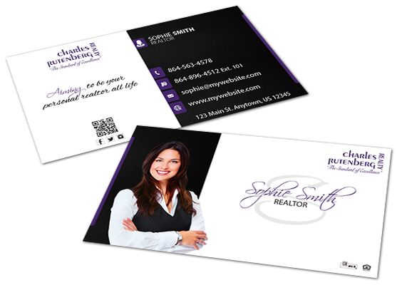 charles rutenberg realty business cards  realtor business