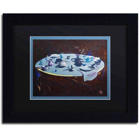 Trademark Fine Art Table Setting Canvas Art By Lowell S.V. Devin, Black  Matte, Black