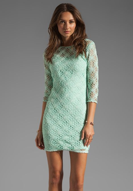 DOLCE VITA Cat Crochet Lace Long Sleeve Dress in Mint at Revolve ...