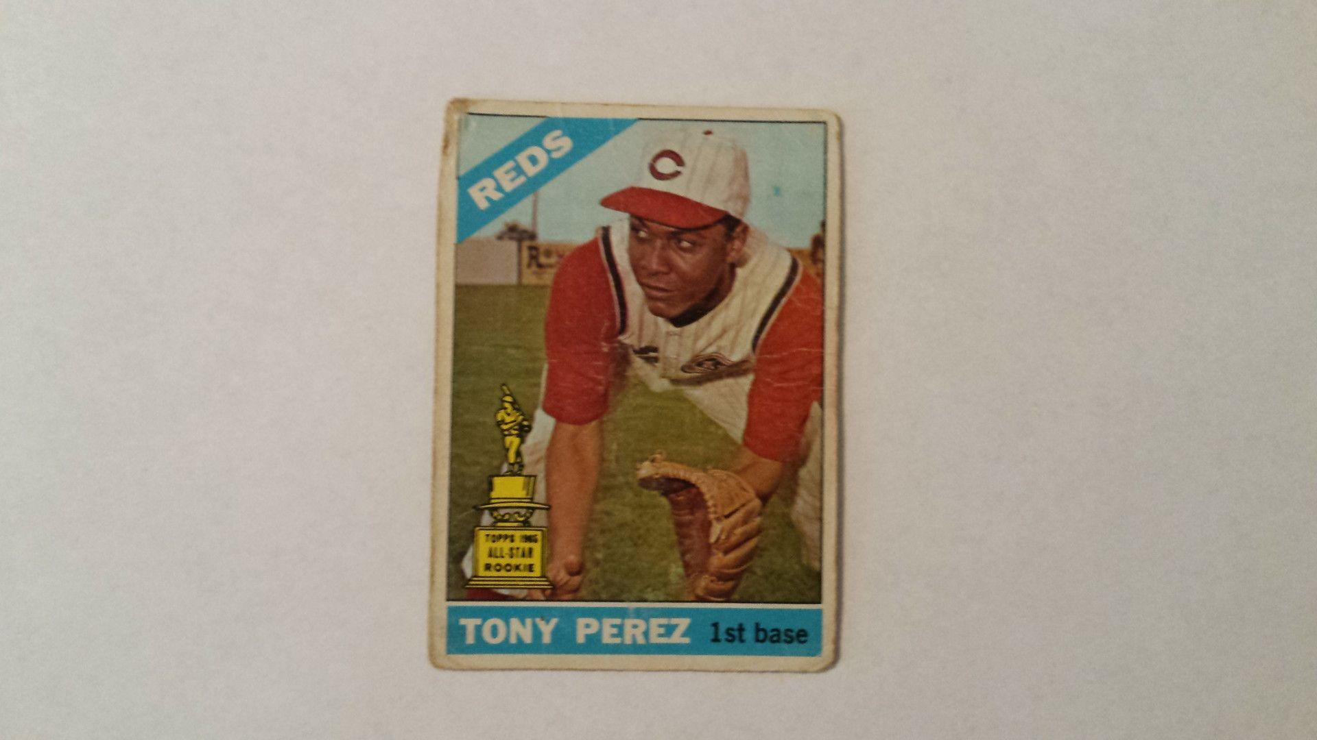 1966 Topps Tony Perez single baseball card