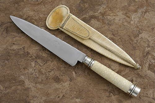 Perpina Porcel Woven Rawhide Cuchillo Gaucho Model 1 Sold Kitchen Knives Knife Knife Sheath