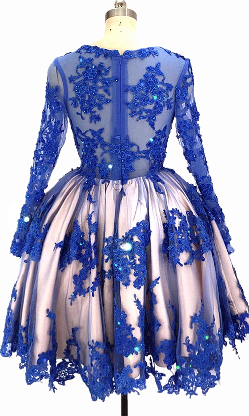 32+ Royal blue wedding dress with sleeves ideas