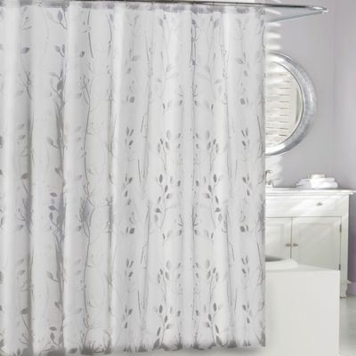 Moda At Home 3d Embossed Peva Shower Curtain In Clear Bedbathandbeyond Com Shower Curtain Plastic Shower Curtain Extra Long Shower Curtain