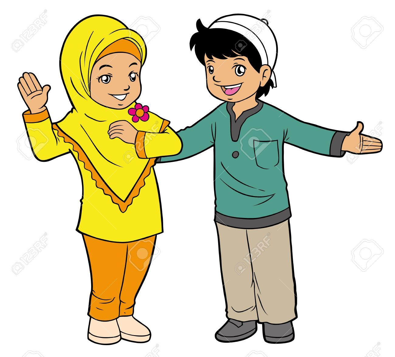 Gambar Kartun Anak Muslim Pinterest Wallpapers