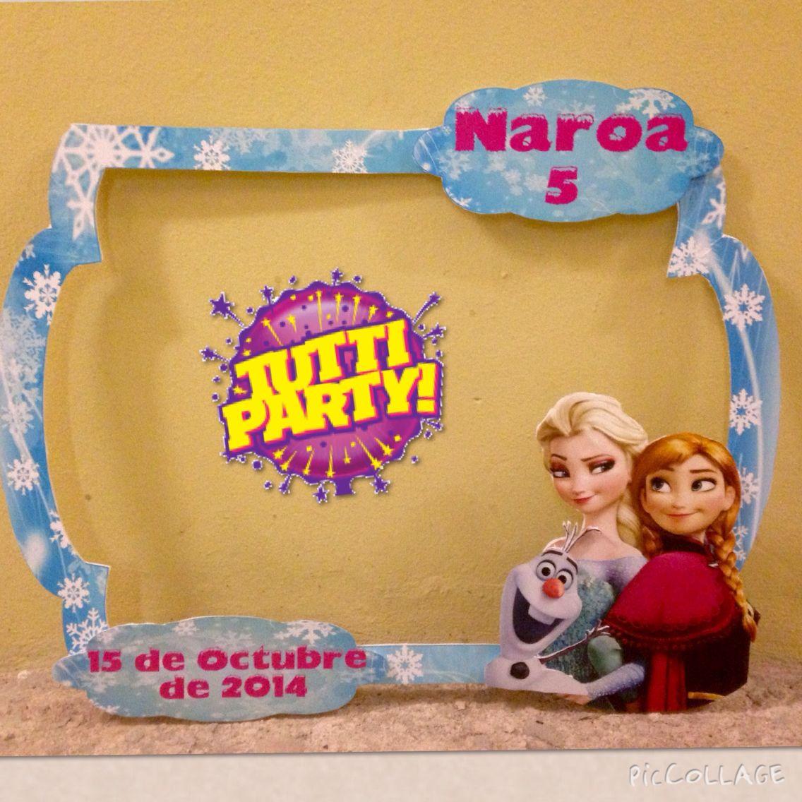 Frozen Photo shoot frame, Frozen marco para fotos divertidas Frozen ...