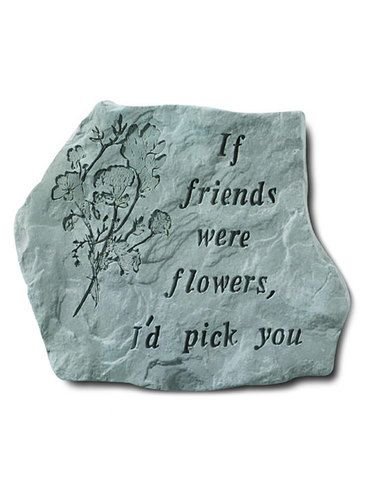 Hanging Wall Plaque And Garden Stone Gift: Kayberry: If Friends Were Flowers
