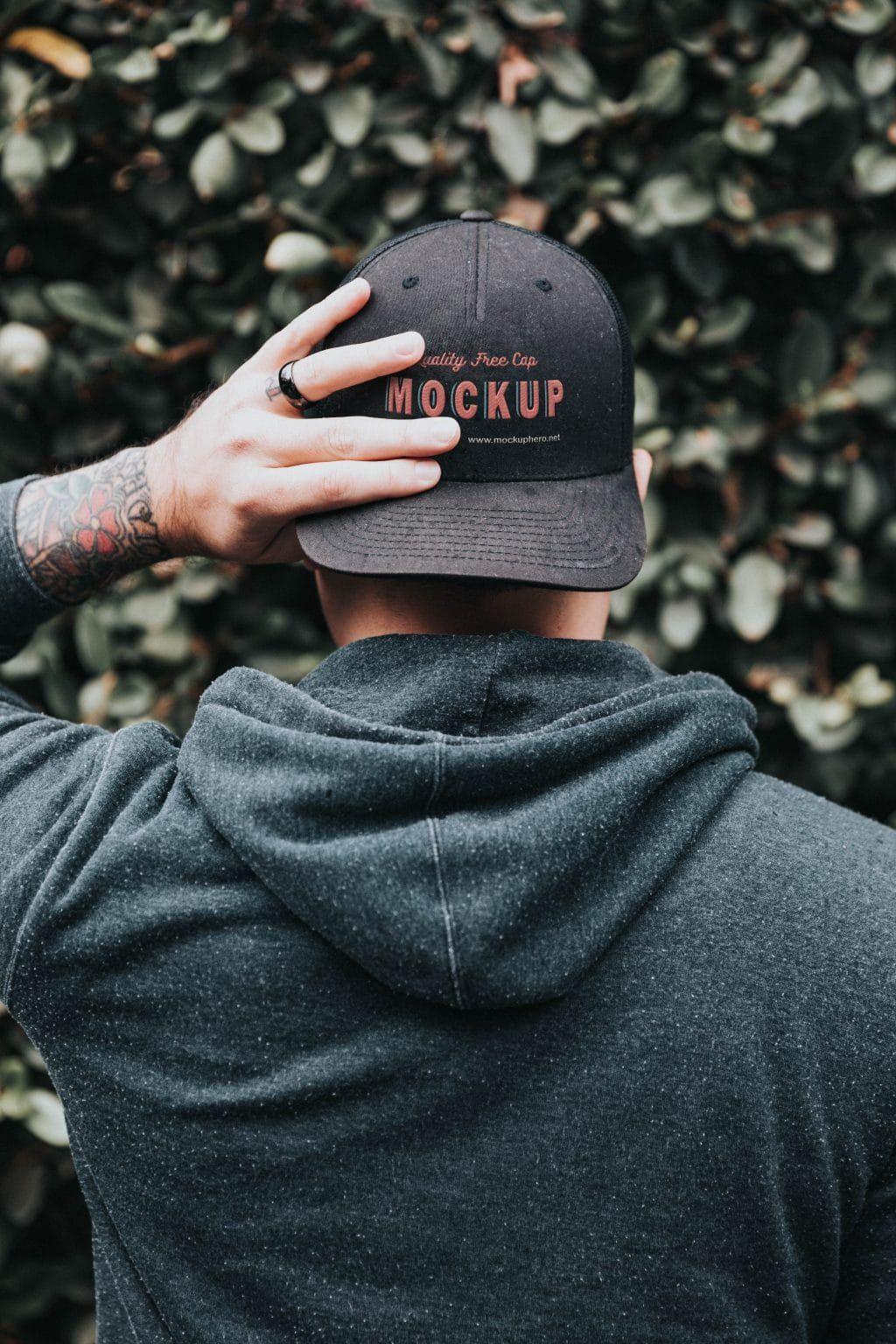 Free Black Cap Mockup Mockuphero Custom Tshirt Design Free Black Black Cap