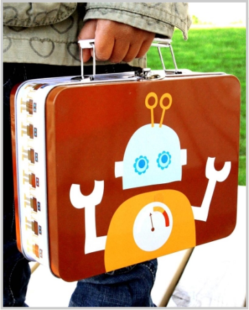 0a8321ae9590 Spotted! Robot Lunchbox | ((to play!)) | Tin lunch boxes, Lunch box ...