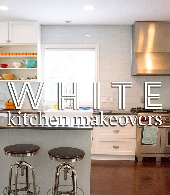 Gorgeous White Kitchen Makeovers! Before & After Photos