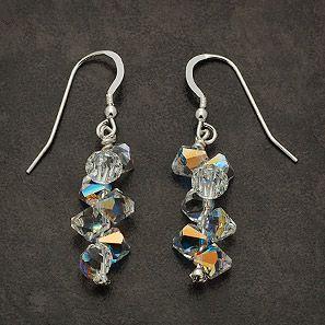 Swarovski Crystal Earrings Handmade Swarovski Crystal Earrings