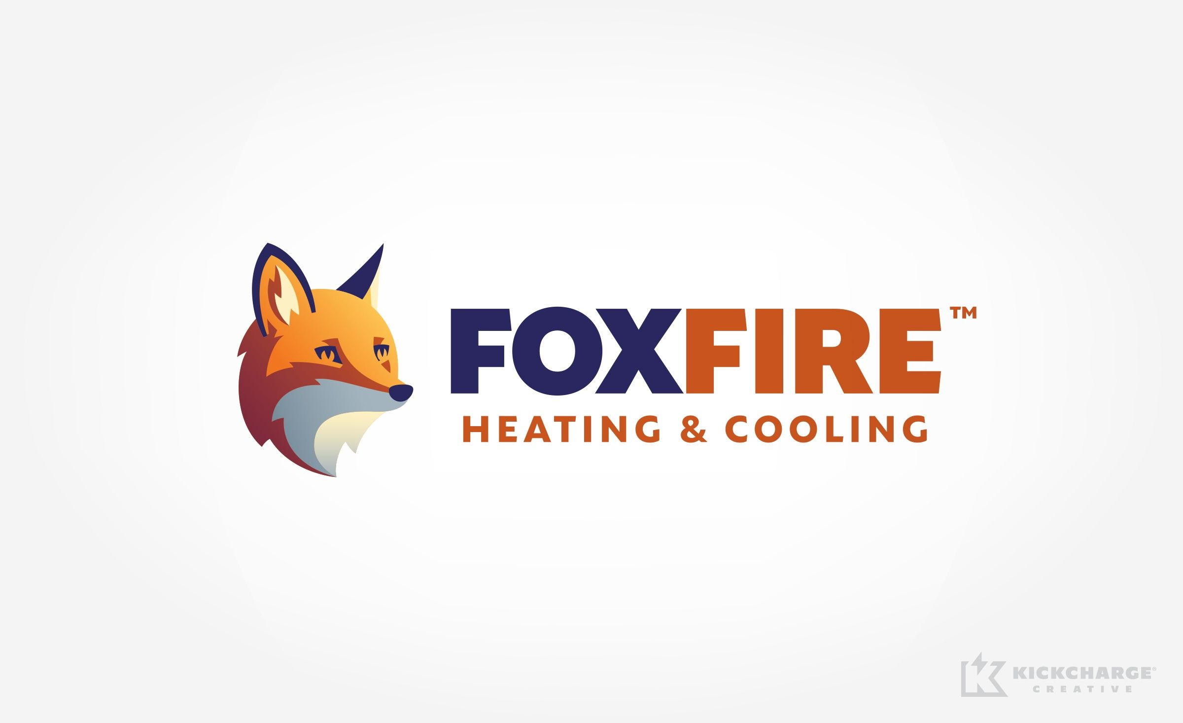 Foxfire Heating Cooling Kickcharge Creative Portfolio Logo