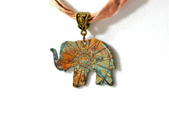Elephant necklace patina necklace world map jewelry etsy elephant necklace patina necklace world map jewelry gumiabroncs Choice Image