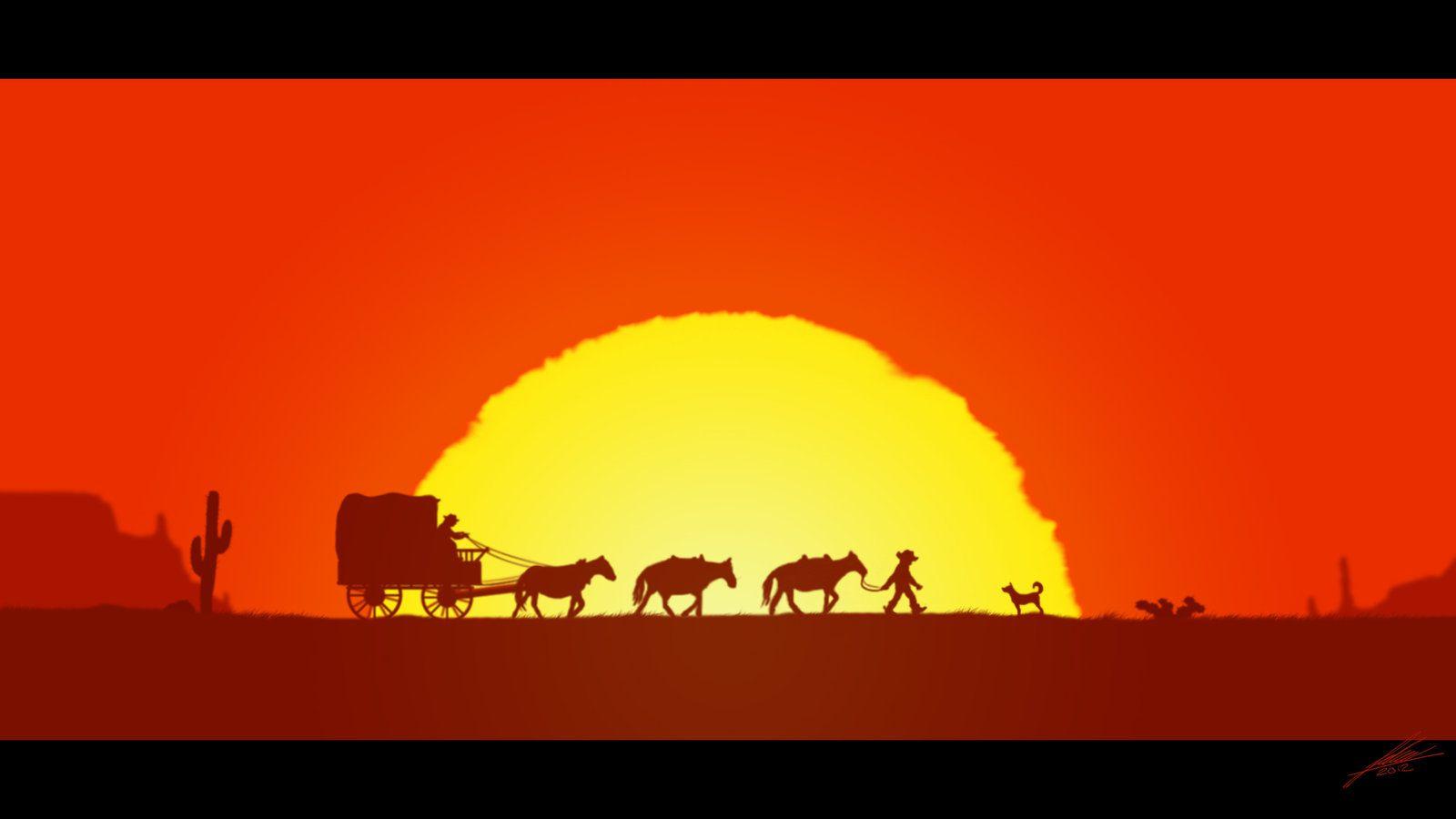 Western Sunset Western Movies Westerns Movie Wallpapers