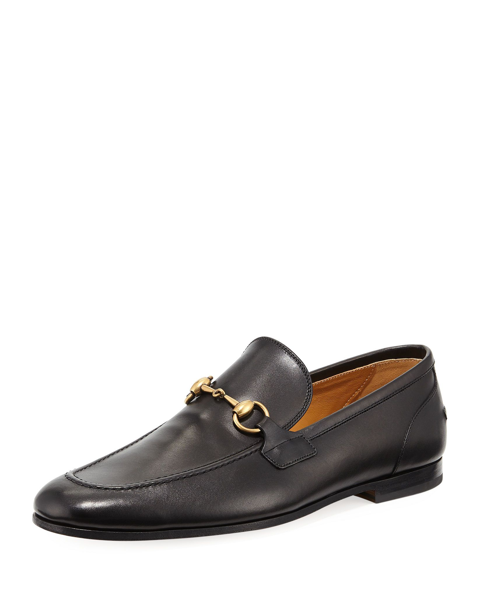 7e11226ca1f Gucci Men s Jordaan Soft Leather Bit-Strap Loafer