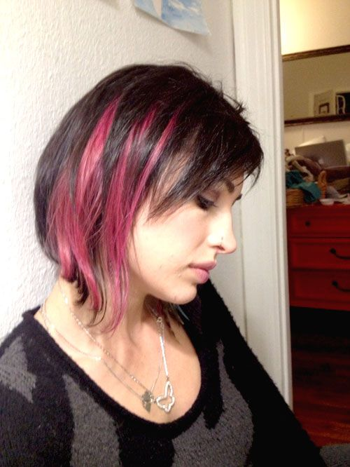 Pink And Black Hairstyles For Short Hair Colorful Manes