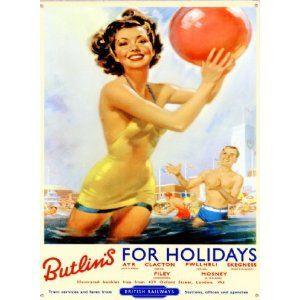 Butlins holiday camp, 1950s. Butlins, Vintage travel