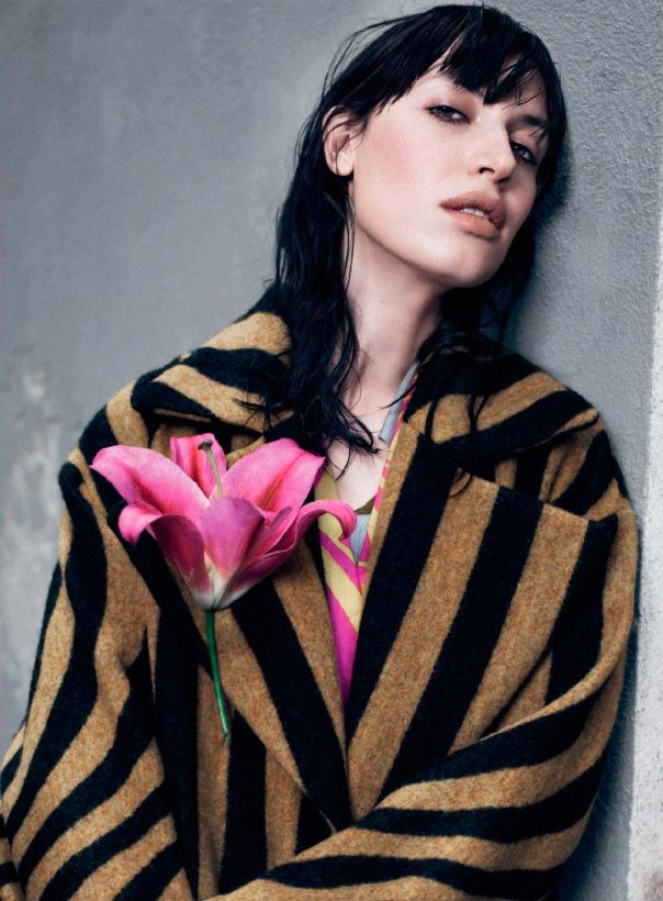 dries van noten   photo: catherine servel... (...and lots of Romantic. Color of flower. Mouth shape. Great photo.)