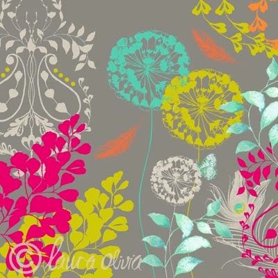 print & pattern: DESIGNER - laura olivia Adoring use of colour. Stunning!