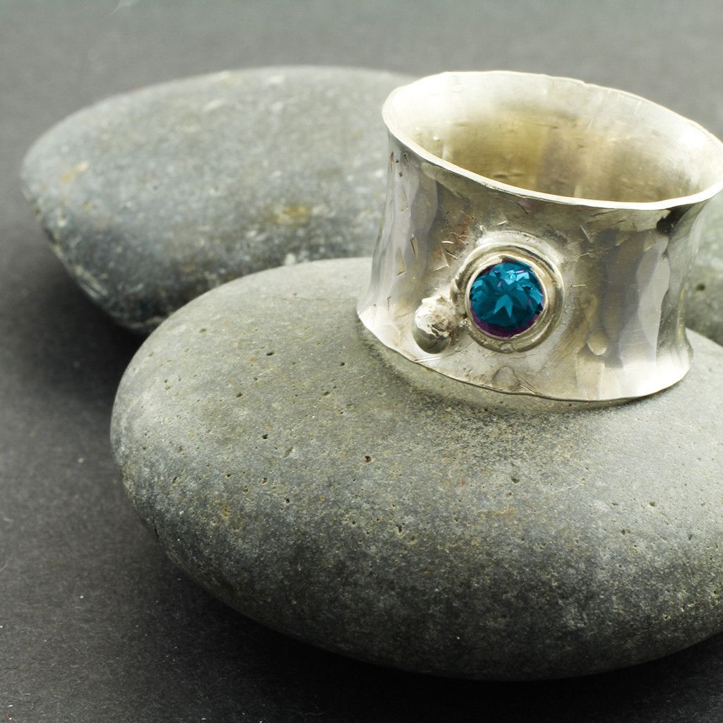 Patience Sterling Silver Anticlastic Ring