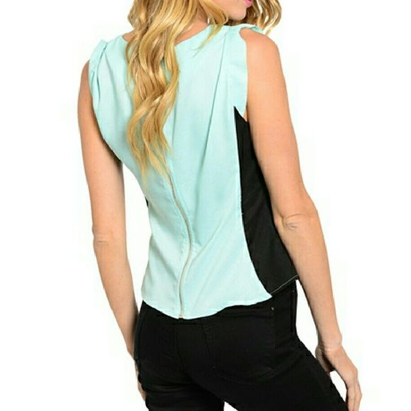 CLASSY MINT TOPON WAY✔SML✔NWT NWT CLASSY MINT AND BLACK BLOUSE!  ON ITS WAY NOW - 2 SMALLS 2 MEDIUMS 2 LARGES - RESERVE YOURS NOW AT THIS PRICE BEFORE SHIPMENT ARRIVES IN LESS THAN A WEEK- JUST ASK FOR SEPERATE LISTING AND LMK YOUR SIZE! 100% POLYESTER ❤ MORE INFO & DEETS & PICS TO COME WHEN ITEMS ARRIVE!   PAYPAL   TRADES  ✔ BUNDLES Tops Blouses