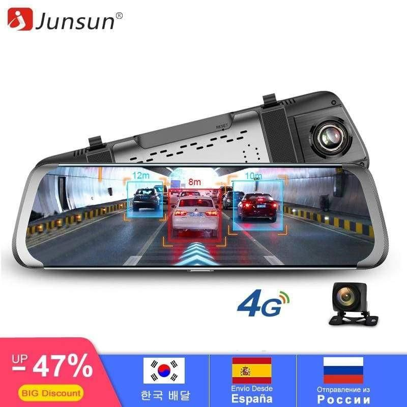 Junsun 4G Rear View Mirror Pausetwoplay Dashcam, Dash
