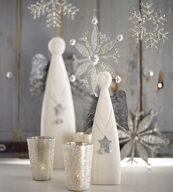 Top Silver And White Christmas Decoration Ideas White christmas - white christmas tree decorations