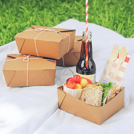 Recycled Bio Pak takeout boxes make the perfect package
