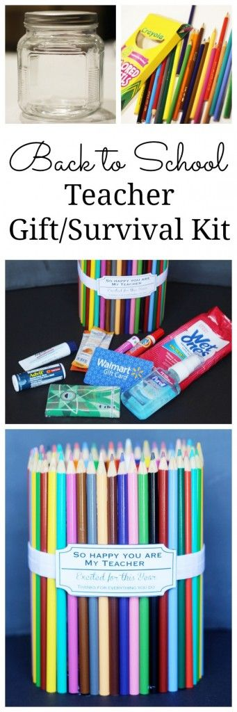 The cutest back to school teacher gift! Any kid would love giving this to their teacher and any teacher would love receiving it! Click for tutorial