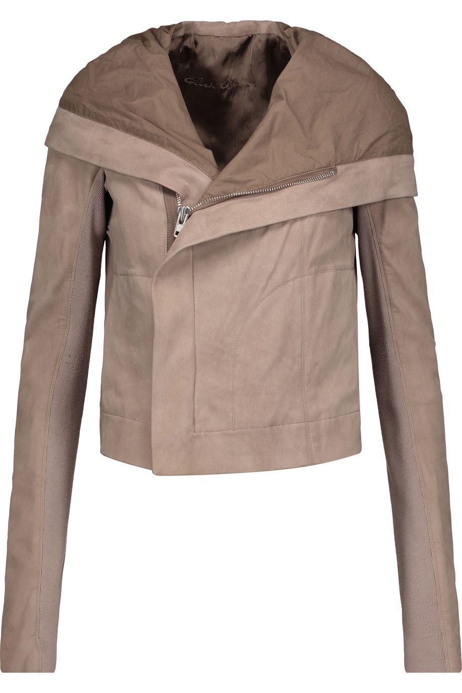 RICK OWENS Leather Hooded Jacket. rickowens cloth