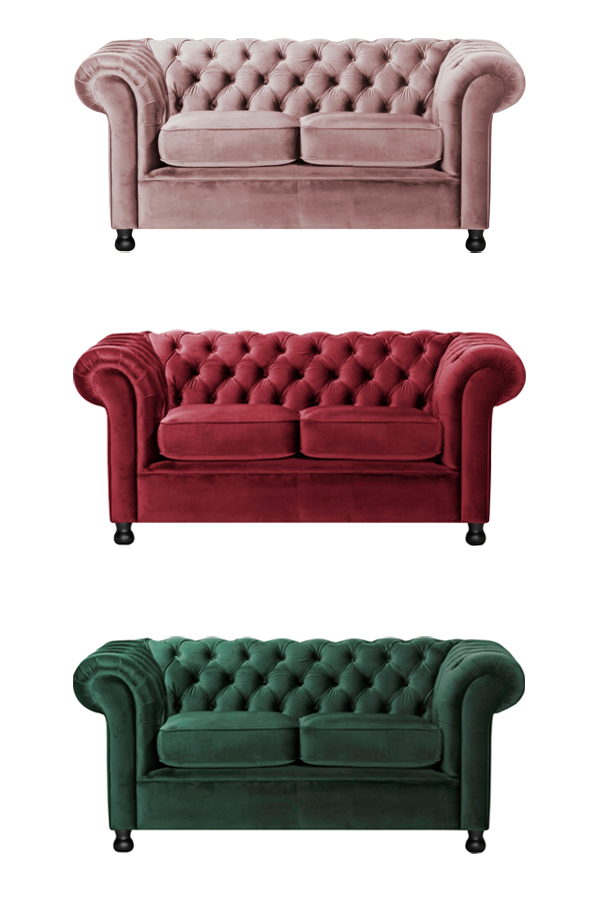 Ein Sofa Aus Samt Der Home Affaire 2 Sitzer Chesterfield Home Chesterfield Sofas 2er Sofa Samt Sofa