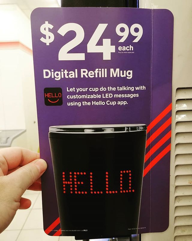 The new 7Eleven Digital LED Mug! What will they think of