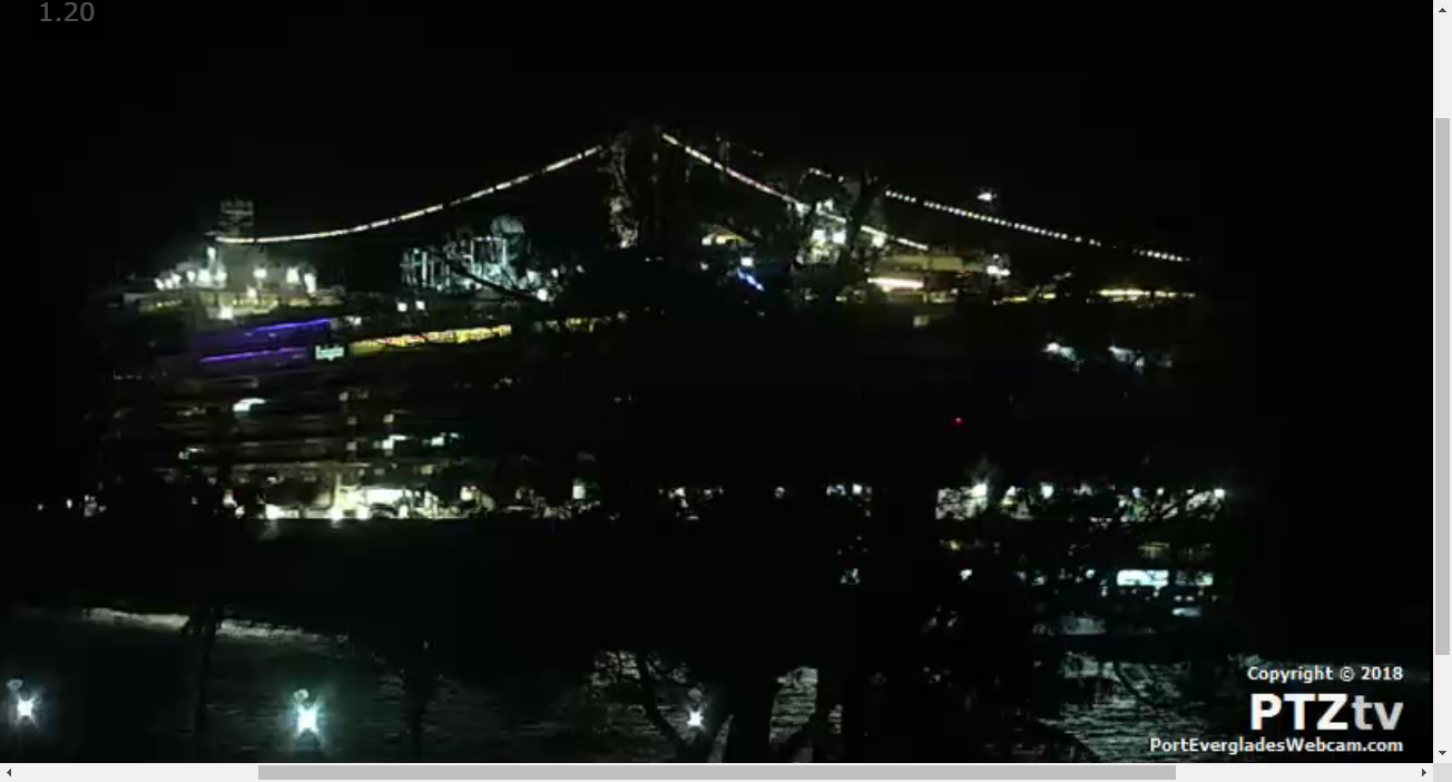 Port Everglades Webcam A Fort Lauderdale Cruise Ship Web Cam - Cruise ship web cameras