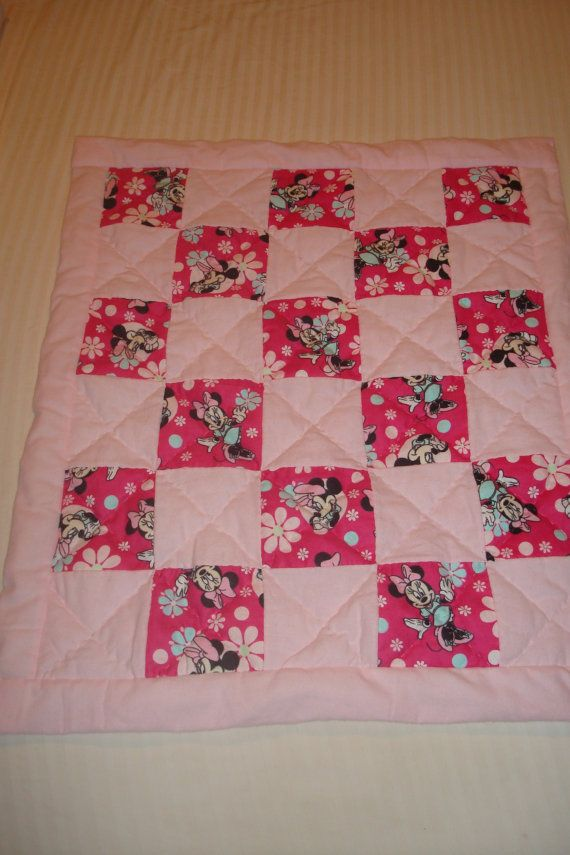 Infants Minnie Mouse Baby Quilt Hand Sewn And Hand Quilted Mamaw Moms Treasures Disney Quilt Baby Girl Quilts Minnie Mouse Girl