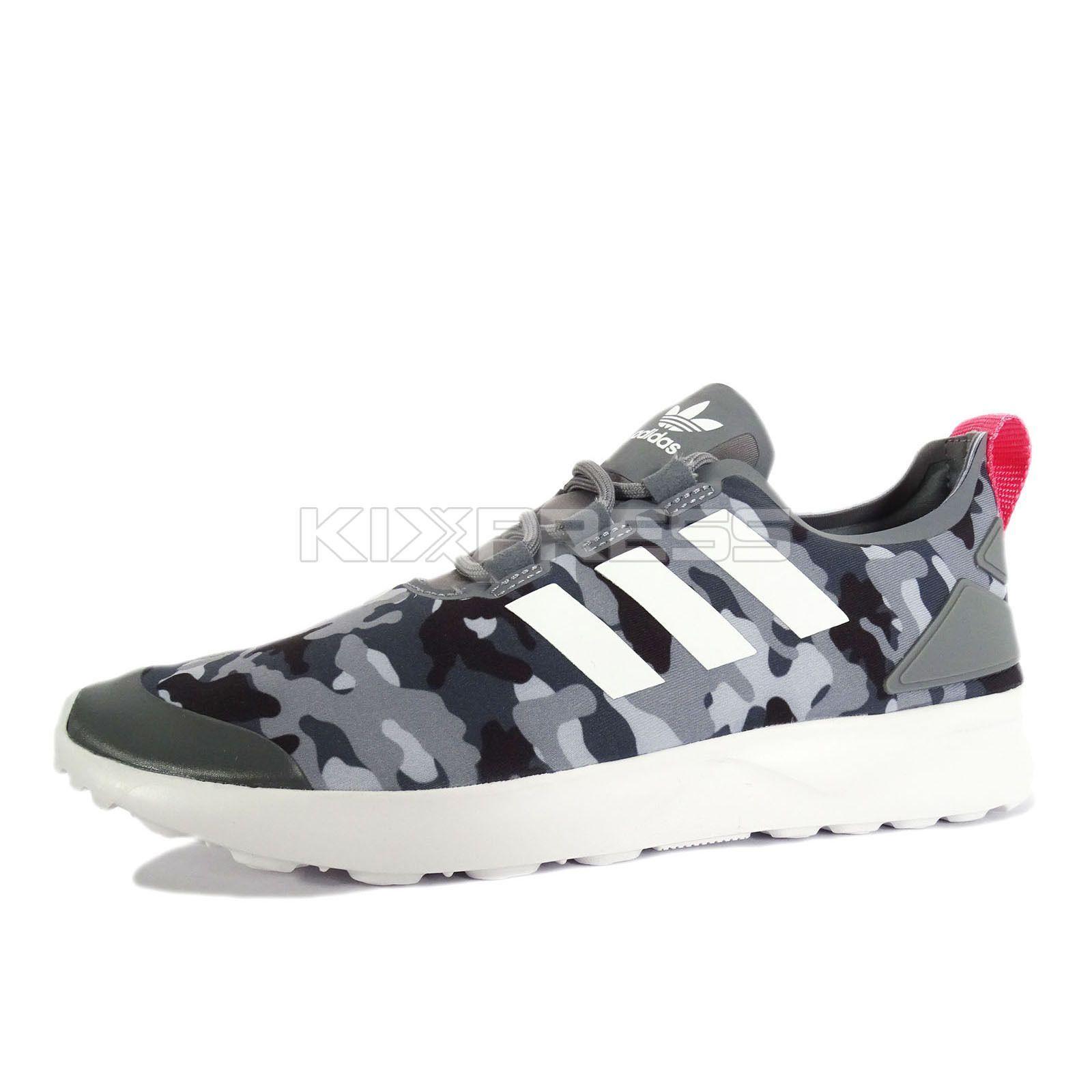 8c80e2a52b1a6 ... low price adidas zx flux adv verve w s32063 original running camo grey  pink 73e6e ec7cf