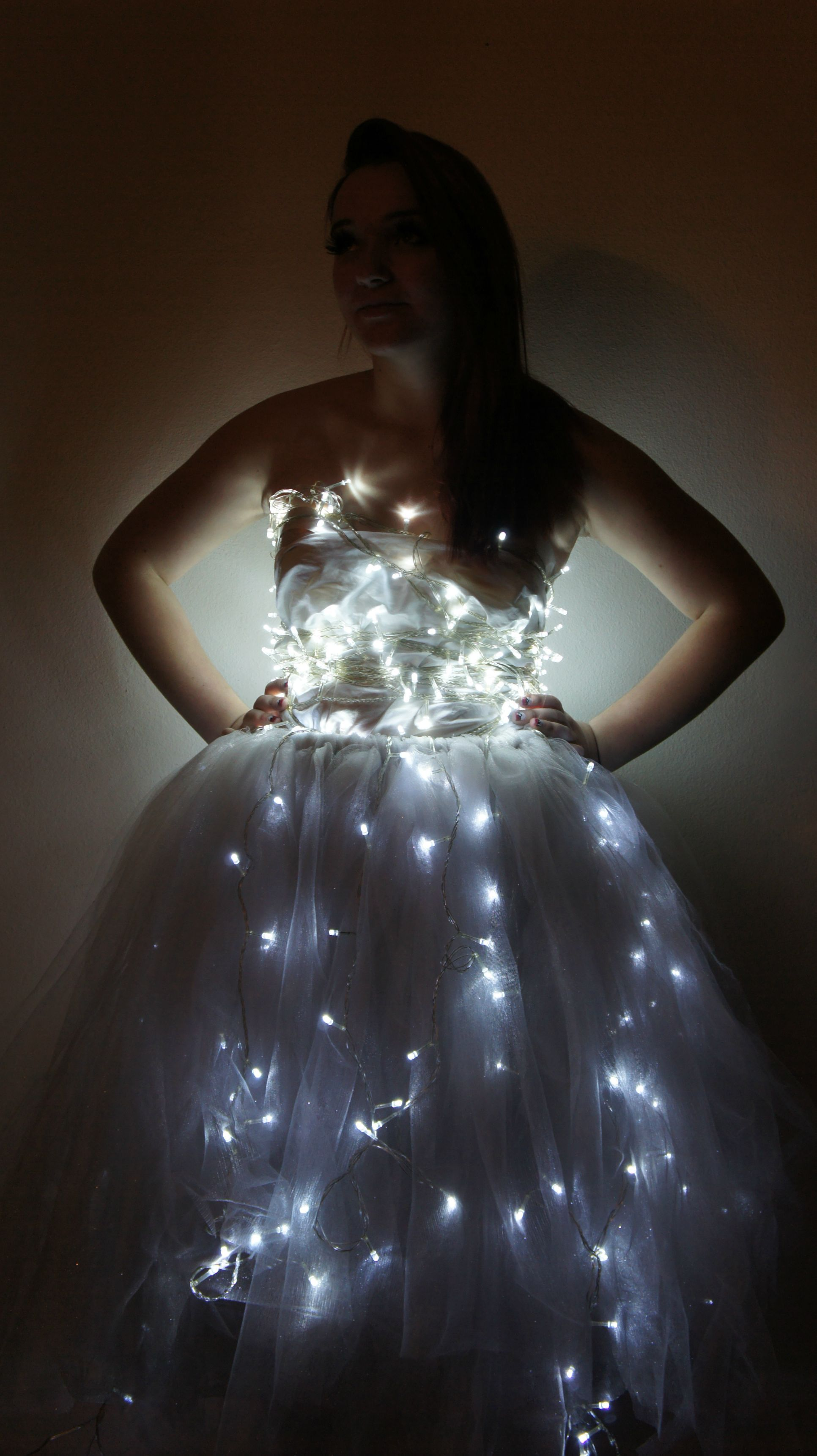 My Latest Creation Is A Dress Made From Tulle And Christmas Lights