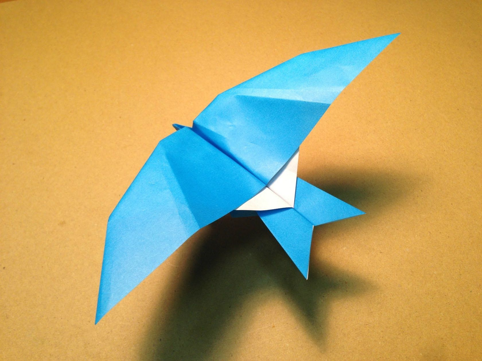 How to make an Origami Leach's Storm Petrel Paper Plane ... - photo#45