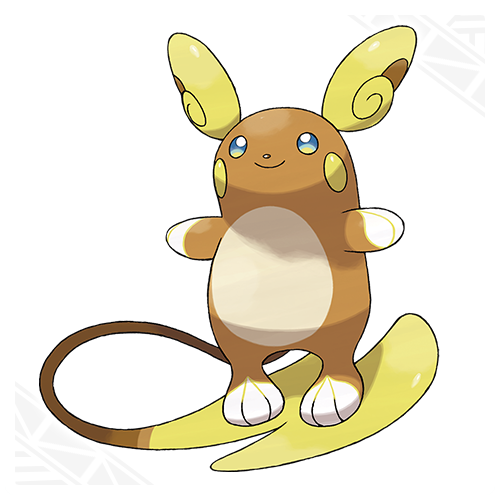 alolan raichu electric psychic with the ability surge surfer which