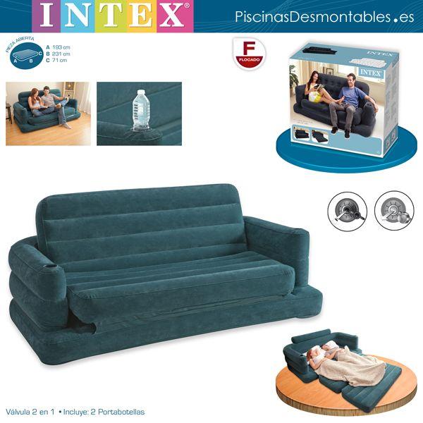 sof cama hinchable ocupa muy poco espacio para que