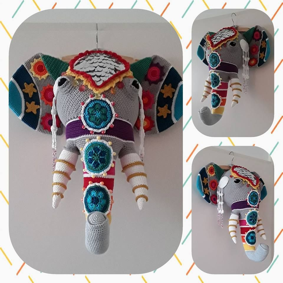 Beaded Elephant Head Pattern By Vanessa Mooncie Crochet Creatures