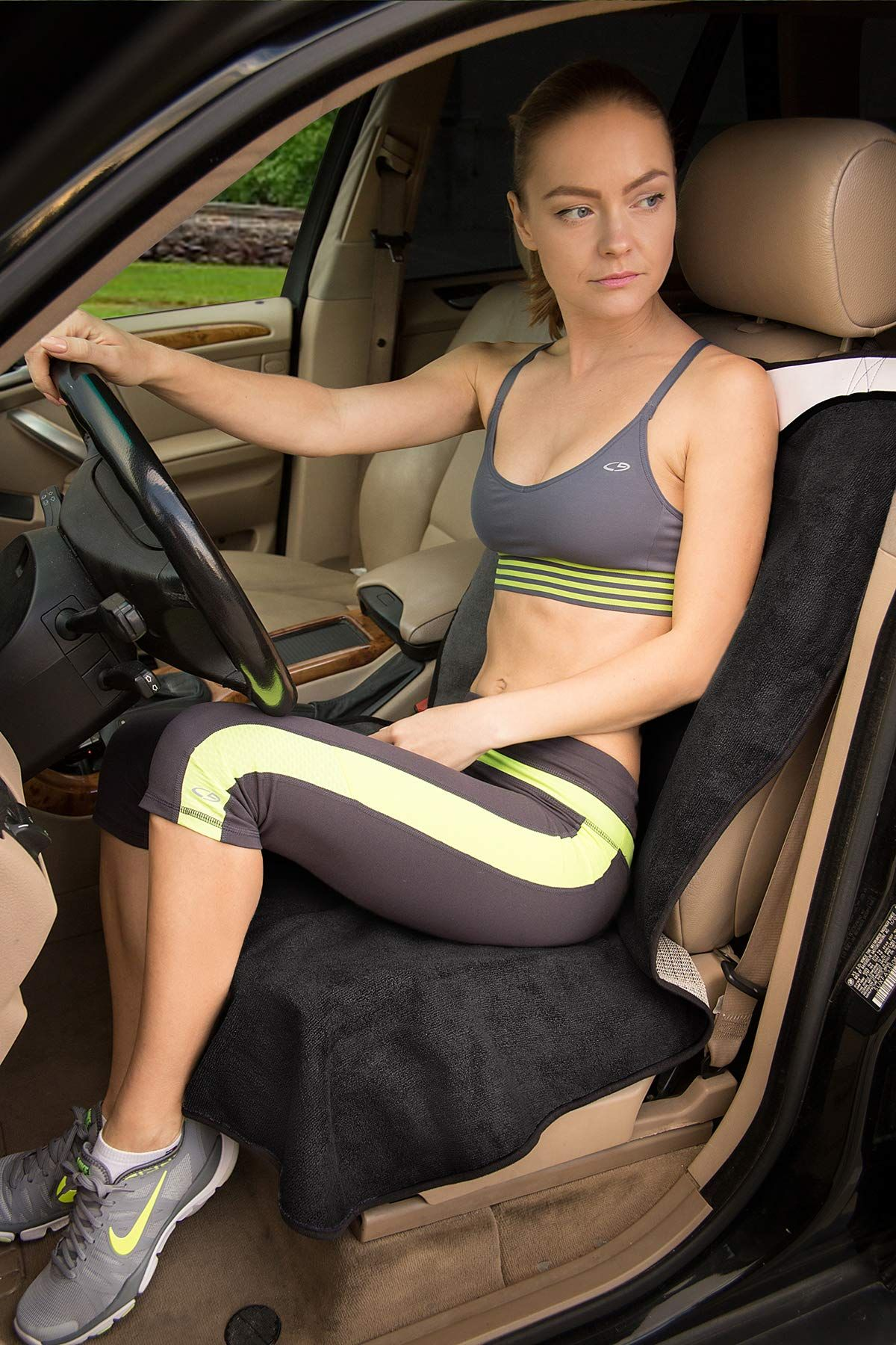 OxGord Sweat Towel Seat Car Cover  Water Sports Yoga Gym Swimming Beach Outdoor
