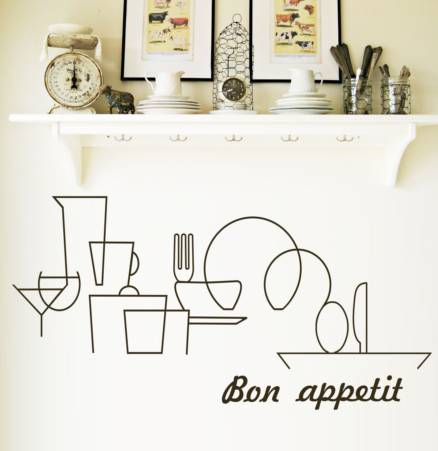 Menaje de cocina recortado en vinilo del color que m s te - Cocinas con vinilo ...