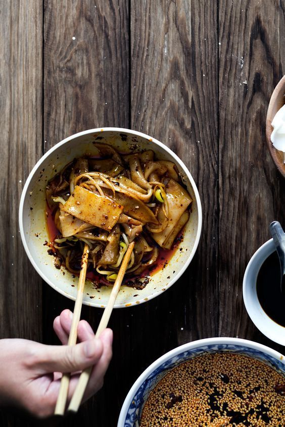 Xi an famous hot rice ribbons chinese food recipes pinterest xian rice famous hot rice ribbons cant wait to try this make your own fresh rice noodles forumfinder Images