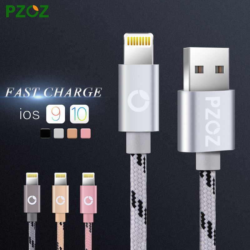 Mobile Phone Cables PZOZ Lighting Cable Fast Charger Adapter