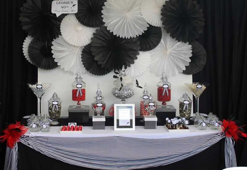 Leonie S Cakes And Parties Leonie S 40th Fancy Feathery Affair White Candy Buffet Elegant Candy Buffet Candy Buffet Wedding
